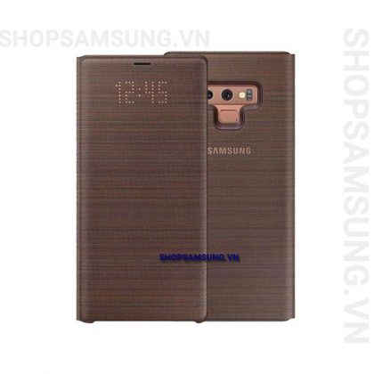 Bao da LED View Cover Case Samsung Galaxy Note 9 nâu brown chính hãng 1 420x420 - Bao da LED View Cover Case Samsung Galaxy Note 9 nâu brown chính hãng