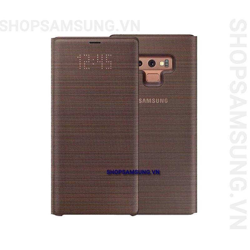 Bao da LED View Cover Case Samsung Galaxy Note 9 nâu brown chính hãng 1 - Bao da LED View Cover Case Samsung Galaxy Note 9 nâu brown chính hãng