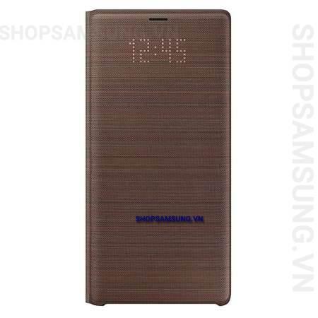 Bao da LED View Cover Case Samsung Galaxy Note 9 nâu brown chính hãng 2 - Bao da LED View Cover Case Samsung Galaxy Note 9 nâu brown chính hãng