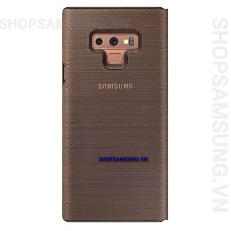 Bao da LED View Cover Case Samsung Galaxy Note 9 nâu brown chính hãng 3 - Bao da LED View Cover Case Samsung Galaxy Note 9 nâu brown chính hãng