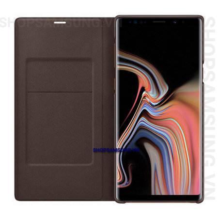 Bao da LED View Cover Case Samsung Galaxy Note 9 nâu brown chính hãng 4 - Bao da LED View Cover Case Samsung Galaxy Note 9 nâu brown chính hãng