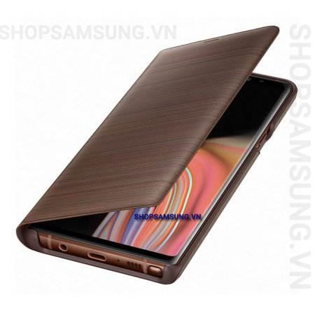 Bao da LED View Cover Case Samsung Galaxy Note 9 nâu brown chính hãng 5 - Bao da LED View Cover Case Samsung Galaxy Note 9 nâu brown chính hãng