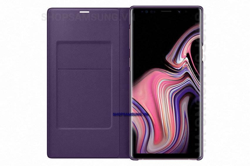 Bao da LED View Cover Case Samsung Galaxy Note 9 tím Lavender chính hãng 4 - Bao da LED View Cover Case Samsung Galaxy Note 9 tím Lavender chính hãng