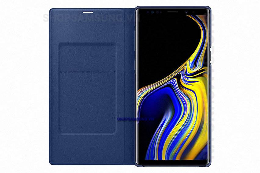 Bao da LED View Cover Case Samsung Galaxy Note 9 xanh Blue chính hãng 5 - Bao da LED View Cover Case Samsung Galaxy Note 9 xanh Blue chính hãng