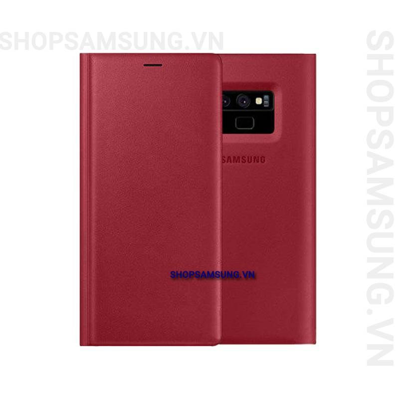 Bao da Leather View Cover Case đỏ Samsung Note 9 chính hãng 1 - Bao da Leather View Cover Case đỏ Samsung Note 9 chính hãng