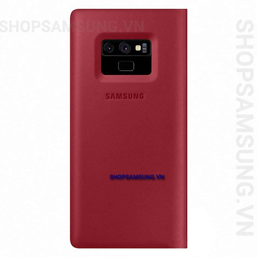 Bao da Leather View Cover Case đỏ Samsung Note 9 chính hãng 2 - Bao da Leather View Cover Case đỏ Samsung Note 9 chính hãng
